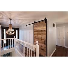 diy barn door frame and hardware kit today overstock 19525623