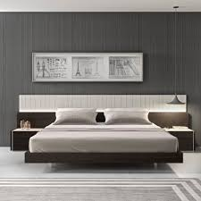 contemporary platform bed with nightstands  platform bed with