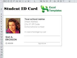 identity card template word student id card template word templates collections