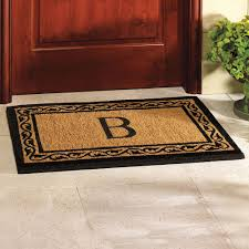 monogram rugs rugs curtains black and natural cori b monogram doormat for monogram rugs