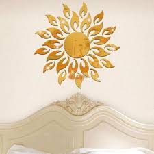 sunflower wall decor fresh sunflower mirror removable wall art stickers vinyl diy