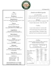 Coffee mugs are available in both 11 ounce. Whidbey Pies Cafe Menu In Greenbank Washington Usa