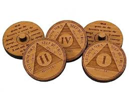 ball markers. miniature aa anniversary medallion golf ball markers   alcoholics anonymous recovery gifts s