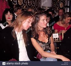Stephanie Seymour and Axl Rose at the ...