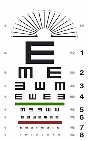 Eye Chart Actual Size 21 Proper 10 Foot Eye Chart