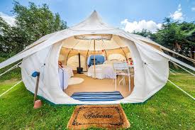 If roughing it is not your thing and glamping is the name of your game,  this tent is perfect for you. This canvas yurt-like tent is huge and is as  ...
