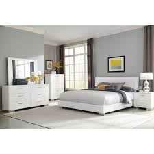 Strick & Bolton Alice White 4-piece Bedroom Set with LED Headboard
