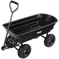 sentinel vonhaus 75l garden dump cart wheelbarrow tipper trolley utility trailer truck