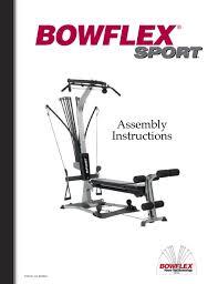 bowflex sport embly instructions
