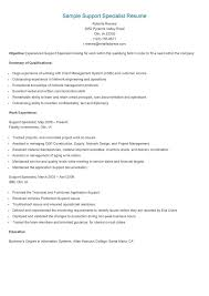 Sample Resume Inservice Training Best of It System Support Specialist Resume Dadajius