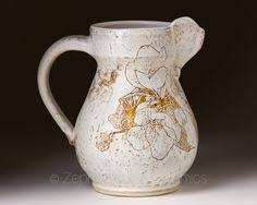 Decorative Ceramic Pitchers Decorative Ceramic Pitcher Large Stoneware Pitcher Vase Creamy 17
