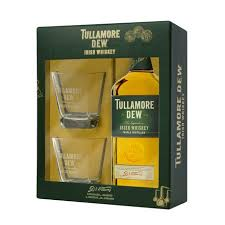 tullamore dew gift set with 2 gles 750ml