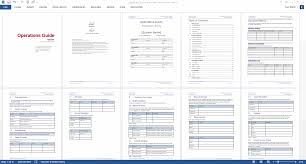 Operations Manual Template Word Operations Guide MS Word Template 5