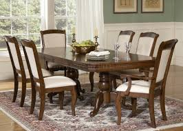 Two Pedestal Dining Table Cherry Finish Double Pedestal Formal Dining Table W Options