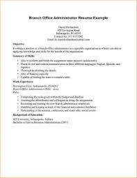 Template Business Administration Resume Templa Business