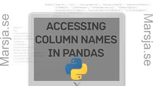 how to get the column names from a