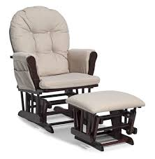 glider rocking chair with ottoman. Simple Chair Nursery Rocking Chair Ottoman Set Baby Furniture Nursing Glider Rocker  Espresso  EBay Intended With A