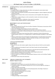 Vascular Technologist Resume Samples | Velvet Jobs
