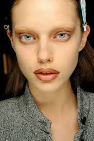 image result for bleached eyebrows