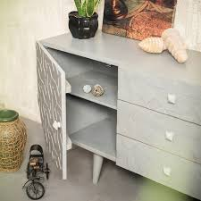 Sideboard Grey Chest 3d Living Room Cabinet Modern