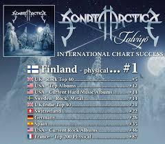 Sonata Arctica Enter Worldwide Charts Nuclear Blast