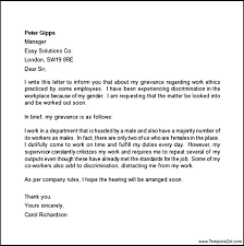 Termination Letter Example Template Of Employment From