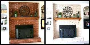 painting fireplace brick red cool a paint color bri