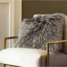mongolian lamb throws fur throw pillow area rugs