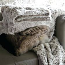 Faux Fur Throw Blanket Gray Wolf Frontgate