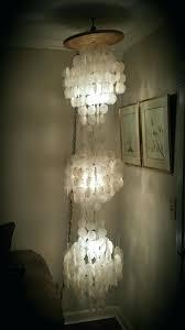 capiz shell chandelier vintage three tier shell chandelier lamp 7 feet antiques in diy wax paper capiz shell chandelier