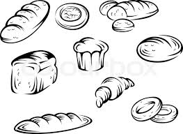 Set Of Bakery Elements For Food Design Stock Vector Colourbox