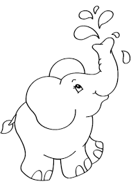 Cartoon Elephant Coloring Page Free Printable Coloring Pages Adult