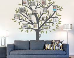 family tree wall decal tree wall sticker nature wall decal living room art family photo art family tree art on custom vinyl wall art canada with custom vinyl wall art decals by wallumswalldecals on etsy