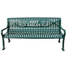 Personalized Diamond Pattern Bench  Outdoor School FurnitureOutdoor School Benches