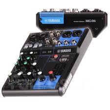 <b>Аналоговый микшерный пульт Yamaha</b> MG06 (Laminor Music Store)
