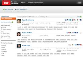 ... Exciting Dice Resume Search 1 Dice Recruiters Get New Candidate  Profiling Tool