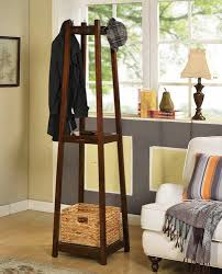 Menards Coat Rack HtoO Solutions Oak Finish Coat Rack with Removable Basket at Menards 2