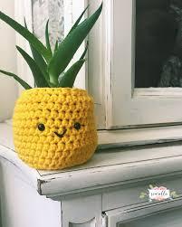 Crochet Pineapple Planter
