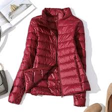 Light Down Jacket Womens Us 19 87 36 Off Winter Ultralight Down Jacket Women Windproof Warm Womens Lightweight Packable Down Coat Plus Size Autumn Casual Slim Parkas In