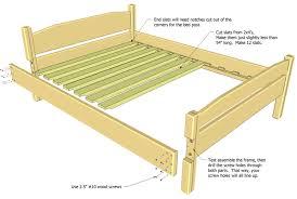 homemade bed frame plans