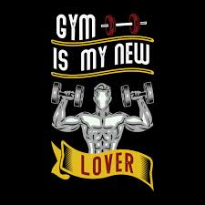 Premium Vector | <b>Gym is my new</b> lover