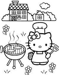 Click on the free hello kitty colour page you would like to print, if you print them all you can make your own. Hello Kitty Cook Cakes Coloring Page Hello Kitty Colouring Pages Hello Kitty Coloring Kitty Coloring