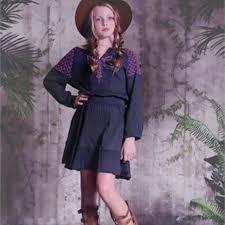 Jak Peppar Grace Peasant Tunic Dress Slate Nwt 5 Nwt