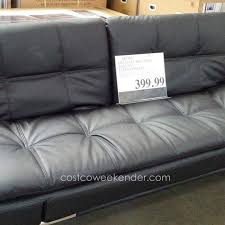 leather futon sofa bed costco futon