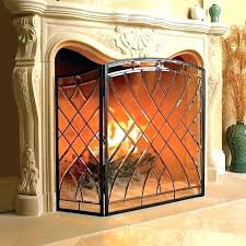 stained glass fire christmas fireplace screen r62 fireplace
