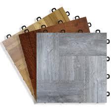 wood vinyl top interlocking floor tiles basement b7us
