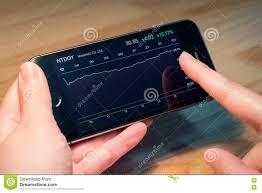 Nintendo Co Ltd Stock Chart On Iphone5s Editorial Image