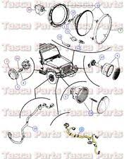 jeep wrangler headlight wiring harness oem mopar headlight wiring harness fits 08 jeep wrangler w v6 engine 68027540ac