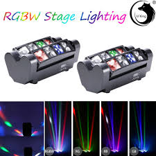 Mini Spider Moving Head Light 8 Leds 80w U King 2pcs Rgbw Mini Spider Stage Light Laser