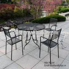 house 5 piece metal mesh patio and
